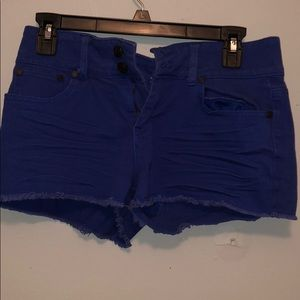 Charlotte Russe Blue Shorts